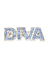 ''Diva'' Swarovski Hair Clip / Dog Barrette (Blue Crystals) - Is your girl a Diva, then let everyone know so that she can get the respect she deserves. Our Swarovski ''Diva'' Dog hair clip will tell the whole world to move out of the way and let her pass. She is a Diva after all!