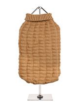 Brown Waffle Textured Knitted Sweater - Our Brown Waffle Textured Knitted Sweater has a tactile waffle-knit finish that is soft to the touch and easy on the eye. A high turtle neck and elasticated sleeves make this sweater extra cosy not to mention very stylish and chic.