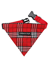 Red Checked Tartan Bandana - Our Red Checked Tartan Bandana is a traditional design which is stylish, classy and never goes out of fashion. Just attach your lead to the D ring and this stylish Bandana can also be used as a collar. It is lightweight and incredibly strong. You can be sure that this stylish and practical Bandana w...