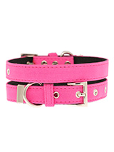 Neon Pink Fabric Collar - Our high visibility Neon Pink collar has a clean contemporary bold style. It is lightweight and incredibly strong. The collar has been finished with chrome detailing including the eyelets and tip of the collar. A matching lead and harness are available to purchase separately. This high visibility st...
