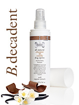 All Natural Chocolate & Vanilla Dog Spritz (200ml) - Our all natural chocolate and vanilla spritz spray is used to refresh and condition coats leaving them smooth and silky with the delicious rich scent of chocolate and vanilla. Features beneficial organic cocoa which is rich in protective, antioxidant flavonoids and wheat protein which has conditioni...