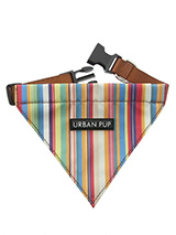 Henley Striped Bandana - Our Henley Striped Bandana is a contemporary style and the striped pattern is clean sharp and right on trend. Just attach your lead to the D ring and this stylish Bandana can also be used as a collar. It is lightweight and incredibly strong. You can be sure that this stylish and practical Bandana wi...