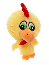 Atomic Chicken Plush & Squeaky Dog Toy - The head of Atomic Chicken is actually a rubber ball with a bumpy surface covered in fabric with is a great interactive toy for playing 'fetch'. He is quite robust and will stand up to a lot of chewing and biting. The rest of him is cuddly and colourful with an added squeak to entertain your pet! Th...