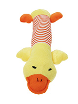 He's Quackers Plush & Squeaky Dog Toy - He's Quackers is a great interactive toy for playing 'tug o' War'. He is quite robust and will stand up to a lot of chewing and biting. The rest of him is cuddly and colourful with an added squeak to entertain your pet! This toy will provide hours of fun for your pup as he squeaks with every bite. T...