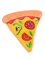 Pizza Plush & Squeaky Dog Toy (Sold by the slice) - Every dog likes a slice of Pizza but as we all know the real thing is not the best food for them. Let them munch down on this calorie free slice with its delicious looking pepperoni, tomatoes, basil, and cheese. For maximum fun pretend it's for you and savour it before handing it over, it will make...