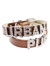 Glitter Brown Personalised Dog Collar (Diamante Letters) - Glitter Brown Personalised Dog Collar (Diamante Letters)