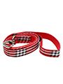 Red Checked Tartan Fabric Lead